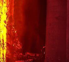 Fire at Cement works by Andrew (ark photograhy art)