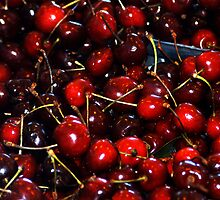 Deep Red Cherries - - Cards & iPad Cases by Maria A. Barnowl