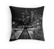 Jolimont at Night Throw Pillow