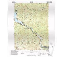 USGS Topo Map Oregon Westfir West 282058 1997 24000 Poster