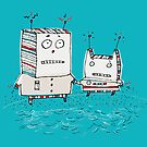 Robots at the Beach  by Carla Martell