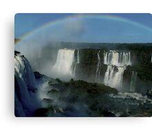 rainbow over Iguassu Falls Canvas Print
