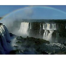 rainbow over Iguassu Falls Photographic Print