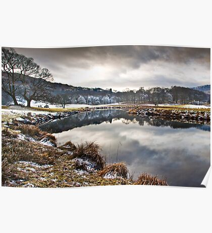 Frosty morn' on the river Brathay Poster