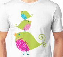 Birdy Stack :: lime Unisex T-Shirt