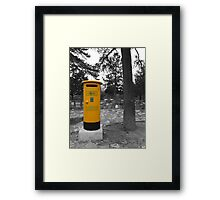 Yellow Postbox Framed Print