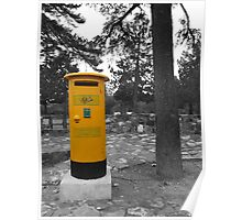 Yellow Postbox Poster