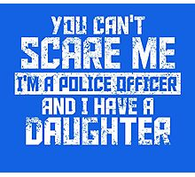 Police officer and daughter  Photographic Print
