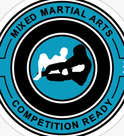 Mixed Martial Arts Competition Ready Kneebar Blue  Sticker