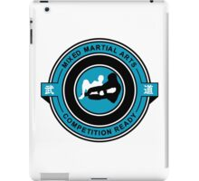 Mixed Martial Arts Competition Ready Kneebar Blue  iPad Case/Skin