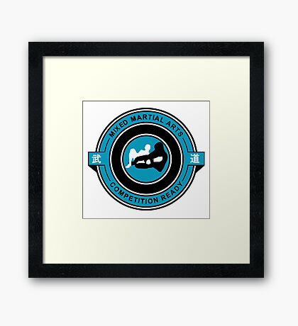 Mixed Martial Arts Competition Ready Kneebar Blue  Framed Print