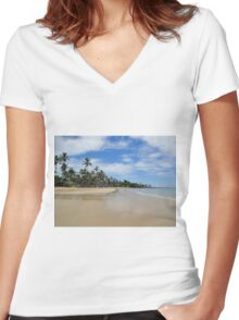 North Mission Beach on Australia Day 2012 Women's Fitted V-Neck T-Shirt