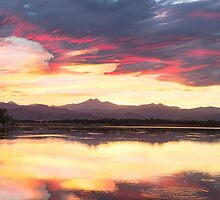 Colorful Colorado Rocky Mountain Sky Reflections by Bo Insogna