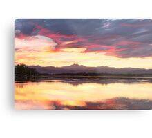 Colorful Colorado Rocky Mountain Sky Reflections Metal Print