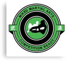 Mixed Martial Arts Competition Ready Kneebar Green  Canvas Print