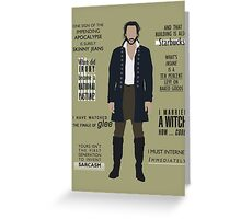 ICHABOD CRANE QUOTES Greeting Card