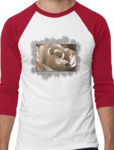 Sepia Long-stemmed Yellow Rose Men's Baseball ¾ T-Shirt
