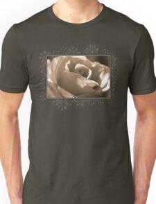 Sepia Long-stemmed Yellow Rose Unisex T-Shirt