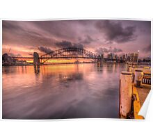 Sitting On A Dock In The Bay - Lavender Bay, Sydney Harbour, Australia - The HDR Experience Poster