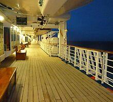 Night  On The Deck of The Sun Princess by joycee