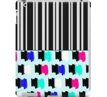 Colorful Retro Painted Brush Stroke Stripes iPad Case/Skin