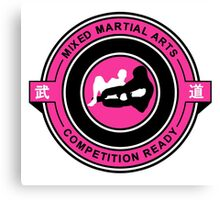 Mixed Martial Arts Competition Ready Kneebar Pink  Canvas Print