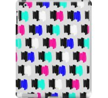 Colorful Retro Painted Brush Stroke Polka Dots iPad Case/Skin