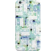 Elegant Pastel Blue and Teal Watercolor Pattern iPhone Case/Skin