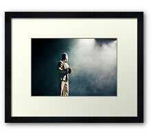 Comedian in action Framed Print