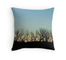 Silhouette treeline Throw Pillow