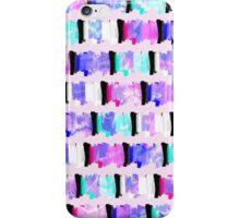 Girly Watercolor Brush Stroke Stripes iPhone Case/Skin