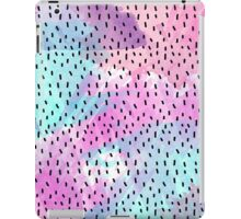 Pink, Teal, Purple, and Blue Abstract Watercolor iPad Case/Skin