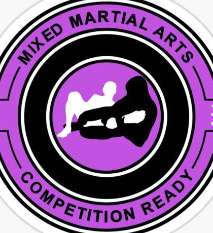 Mixed Martial Arts Competition Ready Kneebar Purple  Sticker