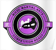 Mixed Martial Arts Competition Ready Kneebar Purple  Poster