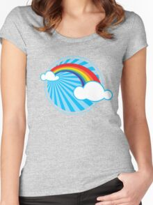 Colourful Rainbow Women's Fitted Scoop T-Shirt