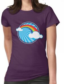 Colourful Rainbow Womens Fitted T-Shirt