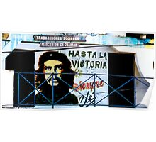 Artwork of Che on Trabajadores Sociales building, Vinales, Cuba Poster