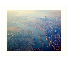 New York from the Air  (2012) Art Print