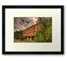 Man O War - Oil Shale Mine Ruins - Glen Davis - The Capertee Valley - The HDR Experience Framed Print