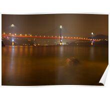 Ting Kau Bridge at Night. Poster