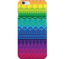 rainbow of pixels pattern iPhone Case/Skin