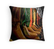 Cowboy Boots - Nashville Throw Pillow