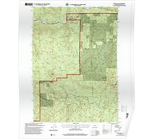 USGS Topo Map Oregon Red Butte 281239 1997 24000 Poster
