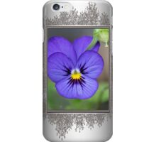 Viola named Sorbet Blue Heaven Jump-Up iPhone Case/Skin