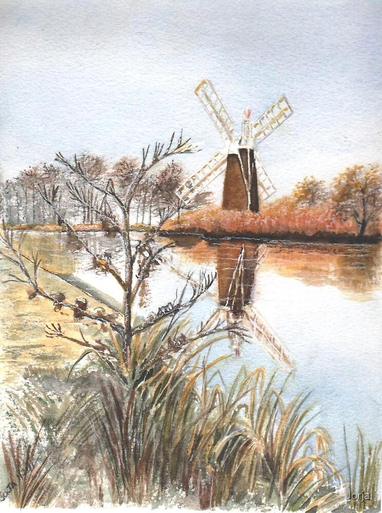 How Hill Windpump, by Jorja