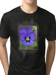 Viola named Sorbet Blue Heaven Jump-Up Tri-blend T-Shirt