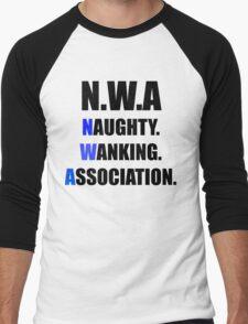 N.W.A NAUGHTY, WANKING, ASSOCIATION Men's Baseball ¾ T-Shirt