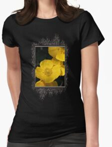 Yellow Iceland Poppy Womens Fitted T-Shirt