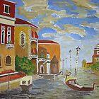 Italian Canal. by Irene  Burdell