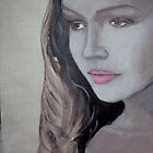 After Glow - Her face reflects the quiet bliss of flowing back into reality  by TedReeder